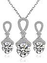Pentru femei Set bijuterii - Include Seturi de bijuterii de mireasă Argintiu Pentru Nuntă Petrecere