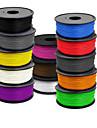 400 (m) 3 d consumabile de imprimantă 1,75 mm ABS 1 kg de o rolă, 1,0 (g / cm3), culoare aleatorii