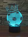 coroana de fotbal tactil dimmer 3d a condus lumina de noapte 7colorful decorare lampă atmosferă de iluminat noutate lumina de Crăciun