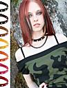 Dam Cirkel Form Form Personlig Vintage Ledigt Sexig Mode Justerbara Punk Chokerhalsband Krage Läder Försilvrad Legering Chokerhalsband