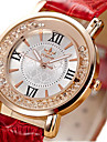 Pentru femei Ceas La Modă Ceasuri din Cristal Quartz / imitație de diamant PU Bandă Vintage Negru Alb Roșu Pink