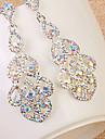 Dame La modă Bijuterii Statement de Mireasă bijuterii de lux European Ștras Diamante Artificiale Picătură Bijuterii Bijuterii PentruNuntă