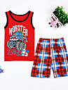 Băieți Set Îmbrăcăminte Peteci Bumbac Zilnic Vară Fără manșon Desen animat Rosu