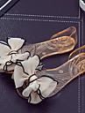 Damă Pantofi PVC Vară Sandale Toc Drept Heel translucid Funde pentru Casual Negru Rosu Albastru Migdală