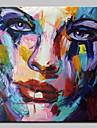 peinte peinture a l\'huile moderne de la main abstraite figure sur l\'art mur de toile avec cadre etire pret a accrocher