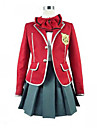 Inspirerad av Guilty Crown Inori Yuzuriha Animé Cosplay-kostymer cosplay Suits Skoluniformer Lappverk Långärmad Kappa Blus Kjol Krage Till