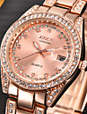 Pentru femei Quartz Simulat Diamant Ceas Ceas de Mână Calendar imitație de diamant Oțel inoxidabil Bandă Charm Modă Argint Auriu