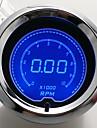 """2 """"(52mm) LCD Digital 7 färgskärm varvräknare varvräknare / auto gauge"""