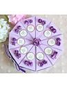 Cilindru Hârtie cărți de masă Favor Holder cu Funde Panglici Flori Cutii de Savoare