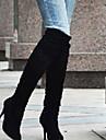 Dame Cizme Primăvară Toamnă Iarnă Pantofi la Modă Imitație de Piele Outdoor Birou & Carieră Casual Toc Stiletto AlteleNegru Albastru Maro