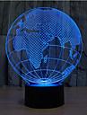 hartă a Europei atingere dimming 3d condus lumina de noapte 7colorful atmosfera de decor lampa noutate iluminat lumina