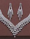 Pentru femei Set bijuterii - Modă Include Colier / cercei Argintiu Pentru Nuntă / Petrecere