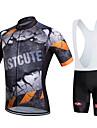 Fastcute Cykeltröja med Haklapp-shorts Herr Dam Unisex Kortärmad Cykel Bib Shorts Collegetröja Tröja Bib Tights Klädesset Cykelkläder