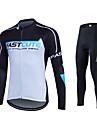 Fastcute Maillot et Cuissard Long de Cyclisme Homme Femme Unisexe Manches Longues Velo Survetement Maillot Collants Pantalon/Surpantalon