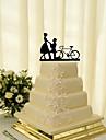 Vârfuri de Tort Temă Clasică Cuplu Clasic Teracotă Nuntă cu Flori 1 Cutie de Cadouri