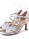 Femme Chaussures Latines Paillette Brillante Sandale / Talon Strass / Paillette Brillante / Boucle Talon Bobine Personnalisables / Cuir