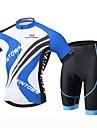 XINTOWN Herr Kortärmad Cykeltröja med shorts - Svart Cykel Shorts Tröja Klädesset, 3D Tablett, Snabb tork, UV-Resistent,