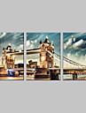 întinsă panza de artă set Bridge din Londra de 3