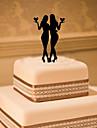 Vârfuri de Tort Temă Clasică Același sex Teracotă Nuntă cu Flori 1 Cutie de Cadouri