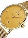 WWOOR Bărbați Ceas Elegant Ceas La Modă Ceas de Mână Quartz Quartz Japonez Calendar Rezistent la Apă Iluminat imitație de diamantOțel