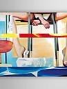 HANDMÅLAD Människor olje,Moderna En panel Kanvas Hang målad oljemålning For Hem-dekoration