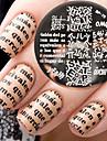 1 pcs Stempling plade Skabelon Moderigtigt Design Negle kunst Manicure Pedicure Stilfuld / Mode Daglig / Stempling Plate / Stål
