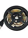 1m Fâșii De Becuri LEd Flexibile 60 LED-uri 3528 SMD Alb Ce poate fi Tăiat / Rezistent la apă / Potrivite Pentru Autovehicule 5 V / IP65 / Auto- Adeziv