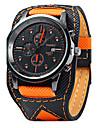 Bărbați Ceas de Mână Quartz Calendar / Piele Bandă Casual Cool Negru Orange