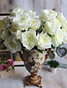 1 ramură Poliester Plastic Trandafiri Față de masă flori Flori artificiale