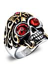 Bărbați Inele Afirmatoare La modă Vintage Stil Punk Zirconiu Oțel titan Skull shape Bijuterii Pentru Halloween Zilnic Casual Cadouri de