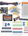 start nybörjare kit bakbord kabel motstånd kondensator ledde potentiometer för Arduino lärande kit