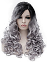Парики из искусственных волос Серый Серый Искусственные волосы Жен. Серый Парик Средние Без шапочки-основы