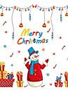Djur Människor Jul Väggklistermärken Väggstickers Flygplan Dekrativa Väggstickers Hem-dekoration vägg~~POS=TRUNC Vägg Glas / badrum