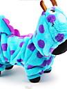 Chien Costume Pulls a capuche Combinaison-pantalon Vetements pour Chien Bande dessinee Bleu Coton Costume Pour les animaux domestiques