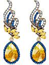 Pentru femei Sapphire sintetic Cristal Cercei Picătură - Modă Oval Pentru Nuntă Petrecere Zilnic Casual