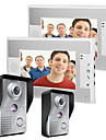Mountainone 7 inch de intrare video doorbell intercom kit 2-camera 2-monitor viziune de noapte