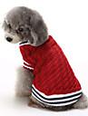Katt Hund Tröjor Jul Hundkläder Färgblock Röd Blå Cotton Kostym För husdjur Herr Dam Ledigt/vardag Håller värmen