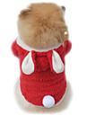 Katt Hund Dräkter/Kostymer Huvtröjor Hundkläder Enfärgad Purpur Röd Rosa Polär Ull Kostym För husdjur Herr Dam Gulligt Cosplay