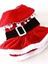 Pisici Câine Costume Rochii Îmbrăcăminte Câini Draguț Cosplay Crăciun Solid Rosu