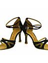 Pentru femei Pantofi Dans Latin / Pantofi Salsa Mătase / Satin Sandale / Călcâi Performanță / Profesional Cataramă / Legătură Panglică
