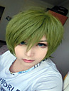Perruques de Deguisement / Perruque Synthetique Droit Vert Femme Sans bonnet Perruque de Cosplay Cheveux Synthetiques