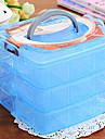 förvaringsbox tre lager transparent för små saker dekorera smycken (slumpmässiga färger)