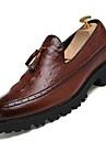 Bărbați Pantofi Imitație de Piele Primăvară Vară Toamnă Iarnă Cizme la Modă Confortabili Mocasini & Balerini Dantelă Pentru Casual Negru