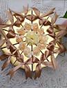 Piramidă Hârtie perlă Favor Holder Cu Flori Panglici Cutii de Savoare