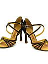 satin curea arc femei personalizate în latină / sala de bal pantofi de dans de performanță