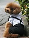Hund Dräkter/Kostymer Smoking Hundkläder Färgblock Svartvit Terylen Kostym För husdjur Herr Cosplay Bröllop