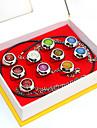 Mer accessoarer Inspirerad av Naruto Akatsuki Animé Cosplay-tillbehör Ring Legering