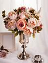 1 buchet artificial bujor bujori flori 8 capete de mătase floare nunta Crăciun acasă partid decor european stil mare
