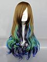 Perruques de lolita Lolita Classique/Traditionnelle Degrade de Couleur Perruque Lolita  68 CM Perruques de Cosplay Mosaique Perruque Pour