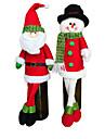 2 set pungi drăguț pulover vin roșu sticla acopere Moș Crăciun masă cină haine decor cu decoruri de partid pălării acasă